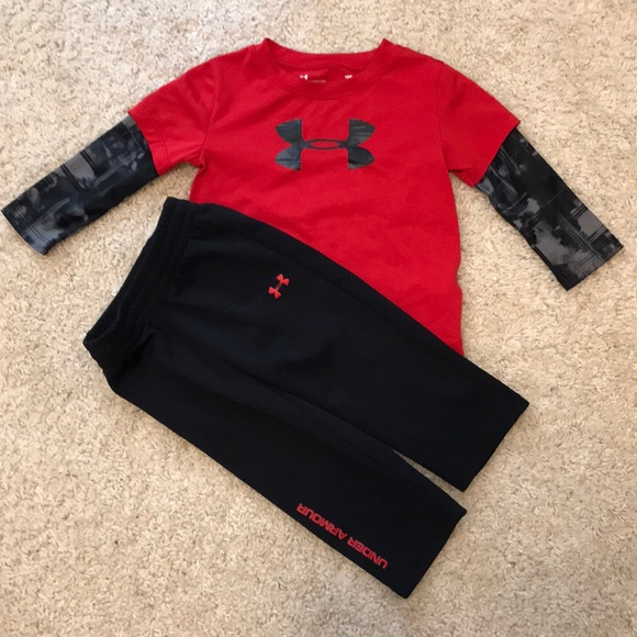 dd90bcb619 Boys 18 month Under Armour outfit.